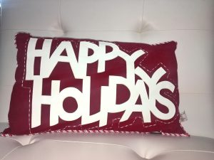 Happy Holidays Pillow - Holiday Gift Ideas Palm Springs