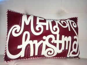 Merry Christmas Pillow - Holiday Gift Ideas Palm Springs